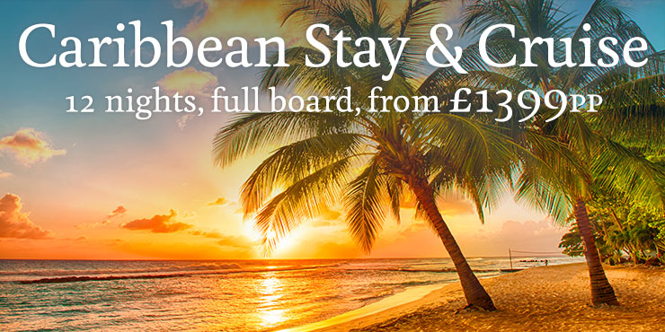 Caribbean Stay & Cruise with balcony stateroom, from £1399pp