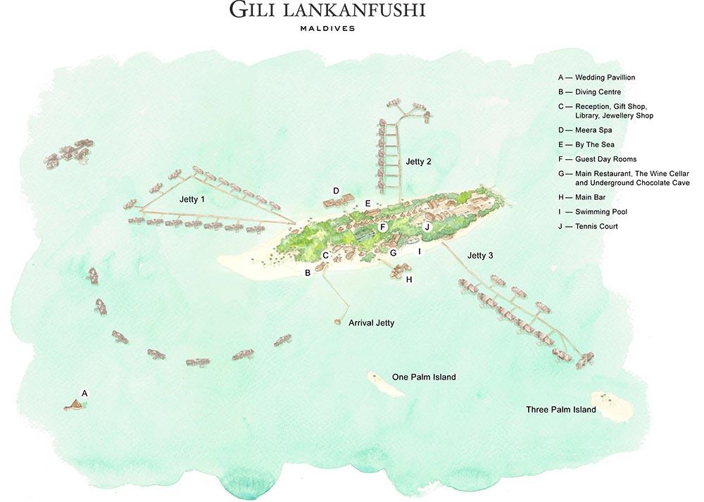 Gili Lankanfushi Island Map Kuoni Travel