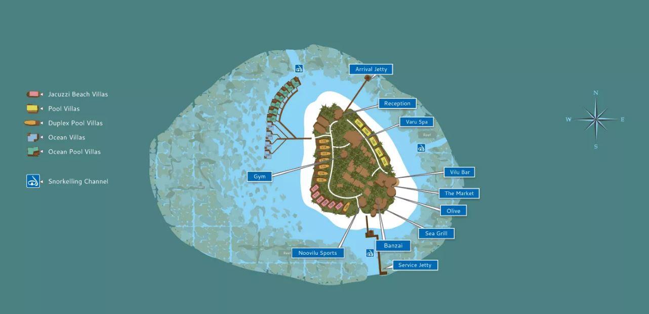 Kandolhu Island Map