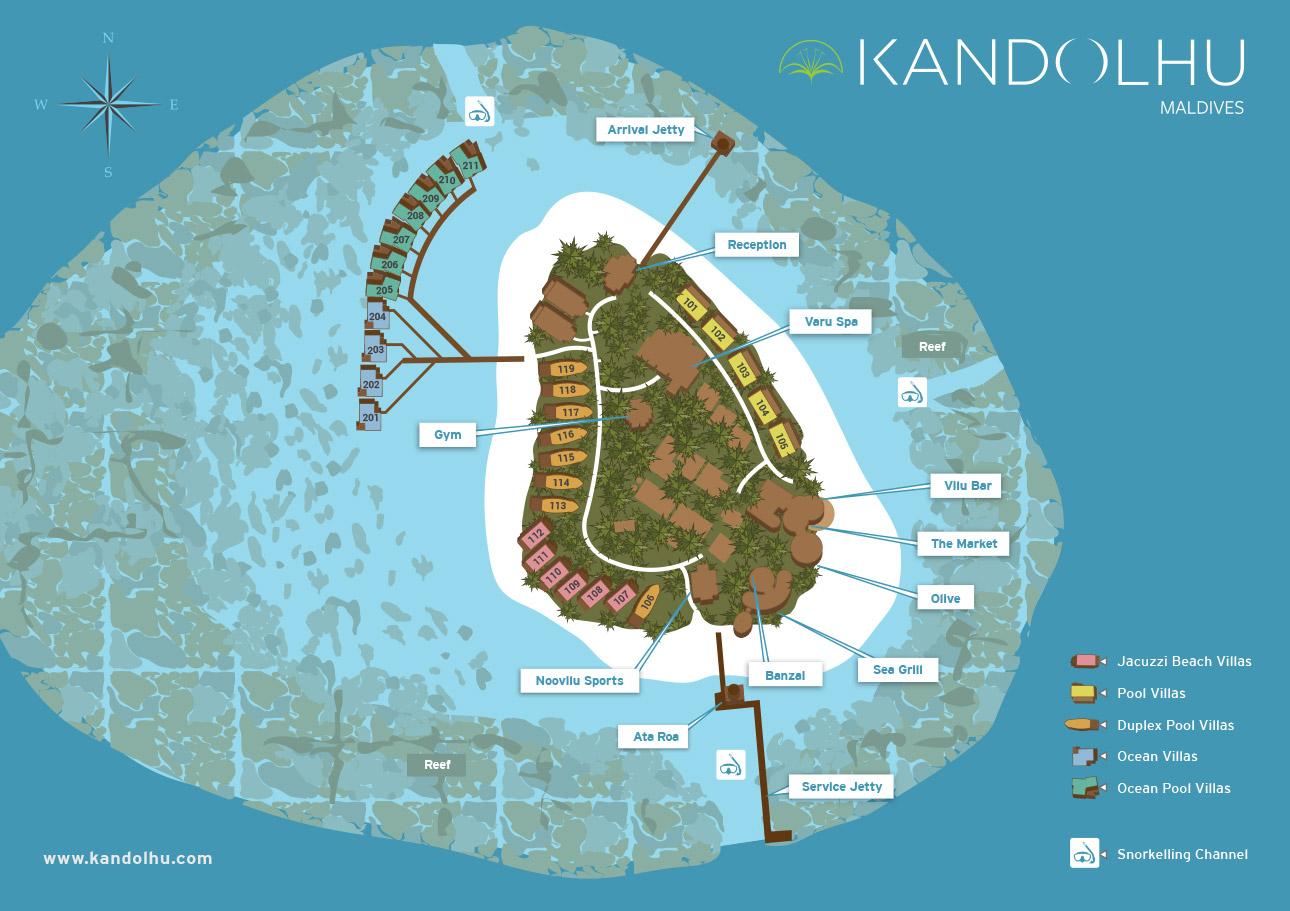 Kandolhu Island Map Kuoni Travel