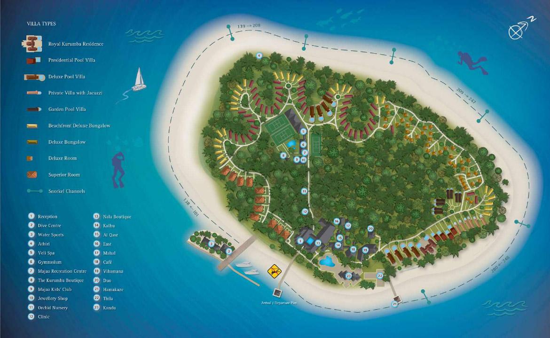 Kurumba Maldives Island Map  Kuoni Travel