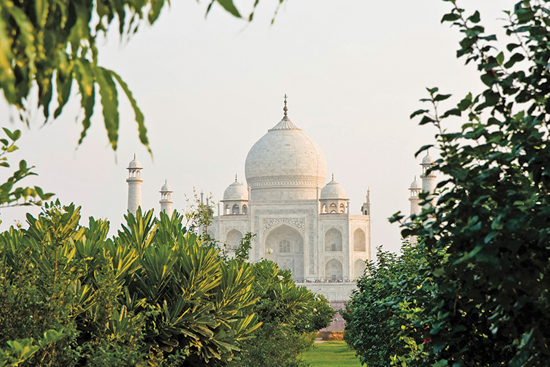 View of Taj Mahal from Mehtab Bagh