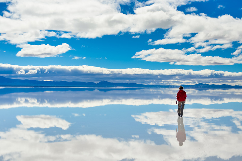 The reflections of Salar de Uyuni