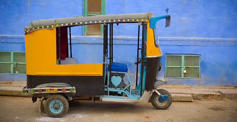 Motorised rickshaw in Jaipur