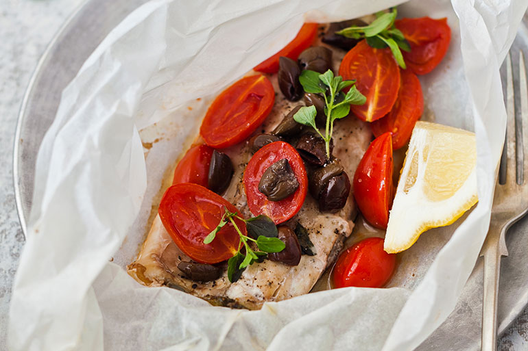 Roasted Seabass and Tomatoes Recipe
