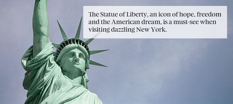 An icon of hope, the Statue of Liberty
