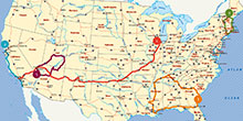America's ultimate road trips