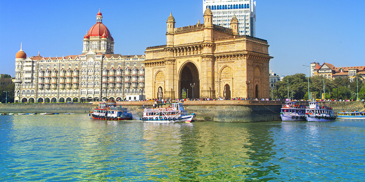 The Gateway of India at Mumbai Harbour
