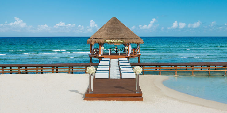 Beach wedding at Secrets Silversands Riviera Cancun