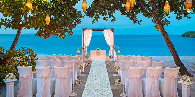 Beach wedding at The Laguna Resort & Spa