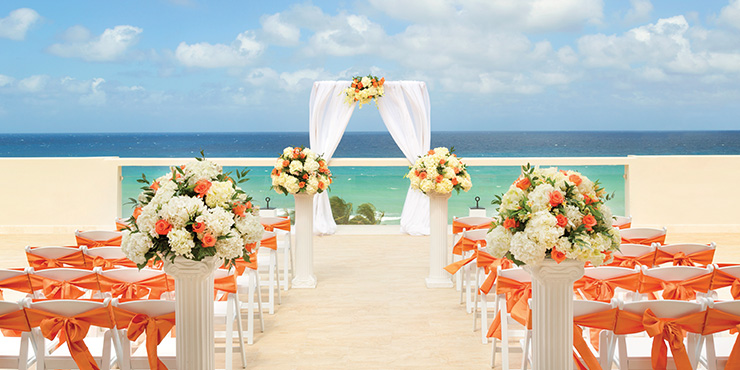 Wedding at Sky Lounge wedding at Hyatt Ziva Rose Hall Resort, Jamaica