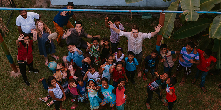 Gandys brothers visit the Kids Campus in Galle