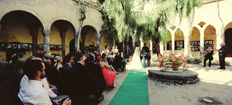 A wedding ceremony in Sorrento
