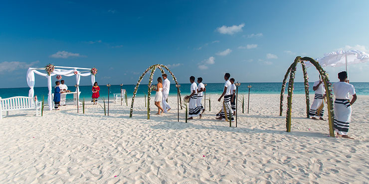 Velassaru is perfect for a beach wedding in the Maldives