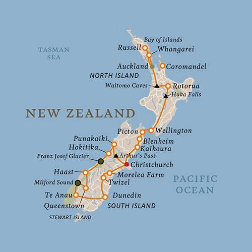 Best of New Zealand map