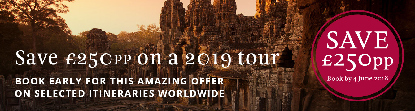 Save £250pp on selected 2019 tours