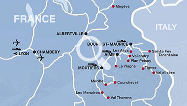 French Ski Resorts Map Skiing In France | Skiing holidays in France | Kuoni Ski Holidays French Ski Resorts Map