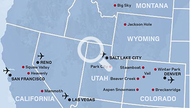 Ski Holidays in the USA   Kuoni Ski Holidays on locations of ski resorts map usa, map of utah ski resorts, map ski centers in usa, map ski resorts in france,